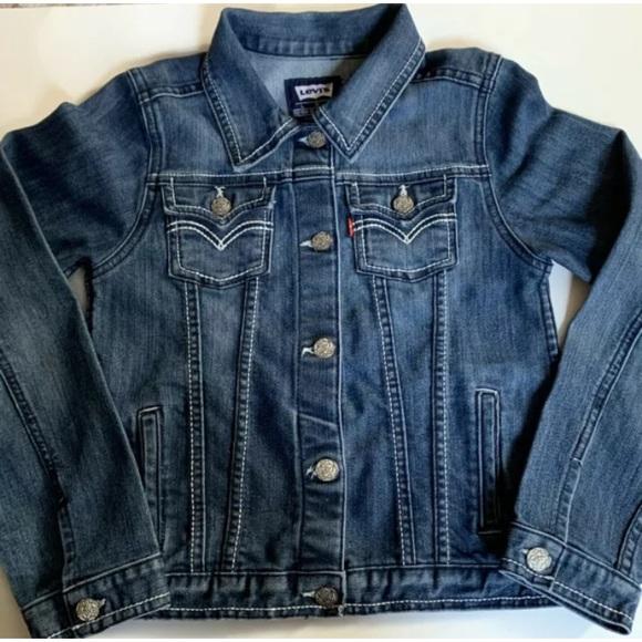 Levi's Denim Jean Jacket Button Front Girls Large